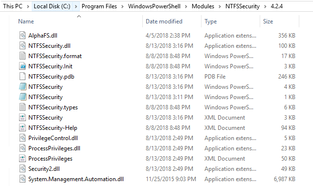 NTFSSecurity