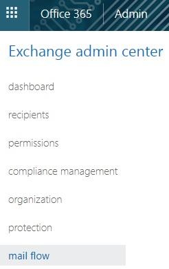 Office 365 - Exchange Admin Center