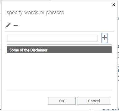 Exchange Admin Center - Mail Flow - Exception - Wording