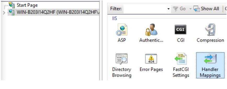 IIS Handler Mappings