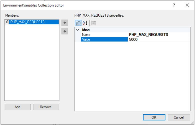 IIS PHP PHP_MAX_REQUESTS
