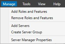 Server ManagerAdd Roles and Features