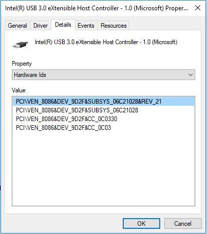 USB Details USB VEN DEV USB Hardware Ids