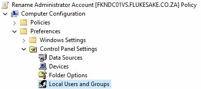 Group PolicyRename Administrator Account