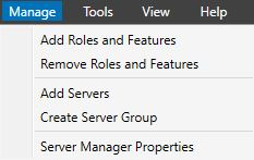 ManageAdd Roles and Features