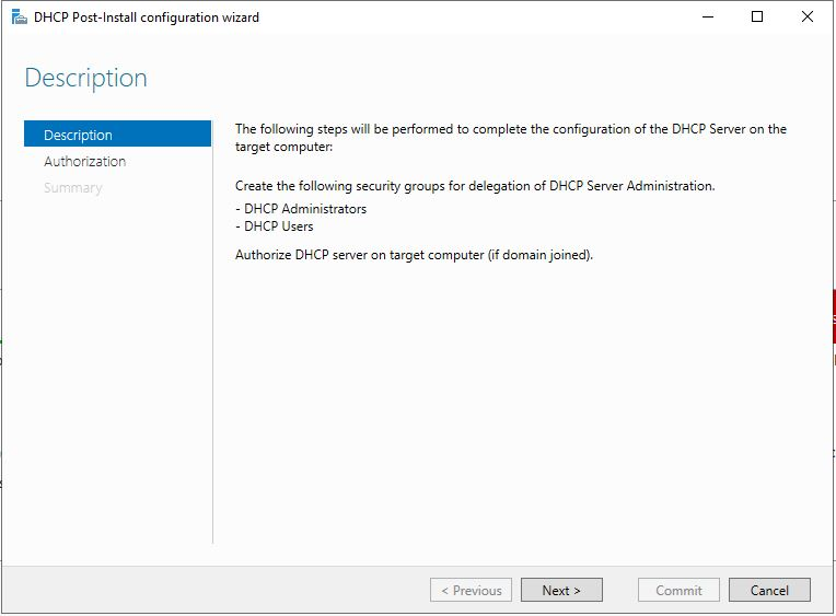 Install DHCP on Windows Server