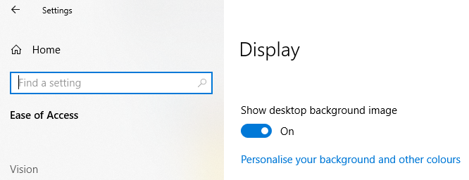 Ease of Access: Desktop Black Screen