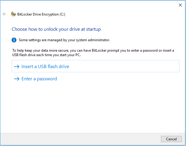 How to unlock drive
