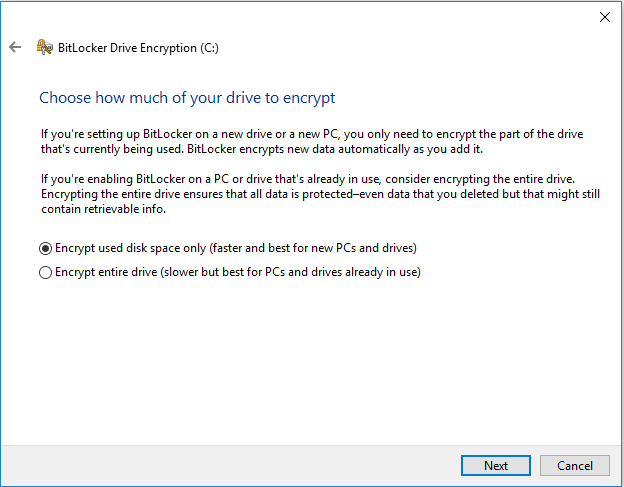 How much Encryption