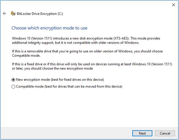 Encryption Type