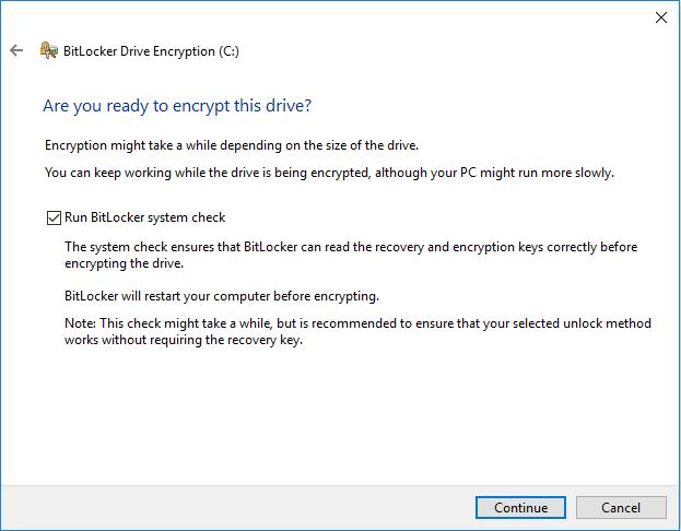 Execute Encryption