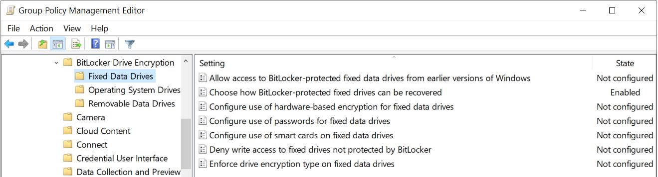 fixed Data DrivesBitlocker Recovery