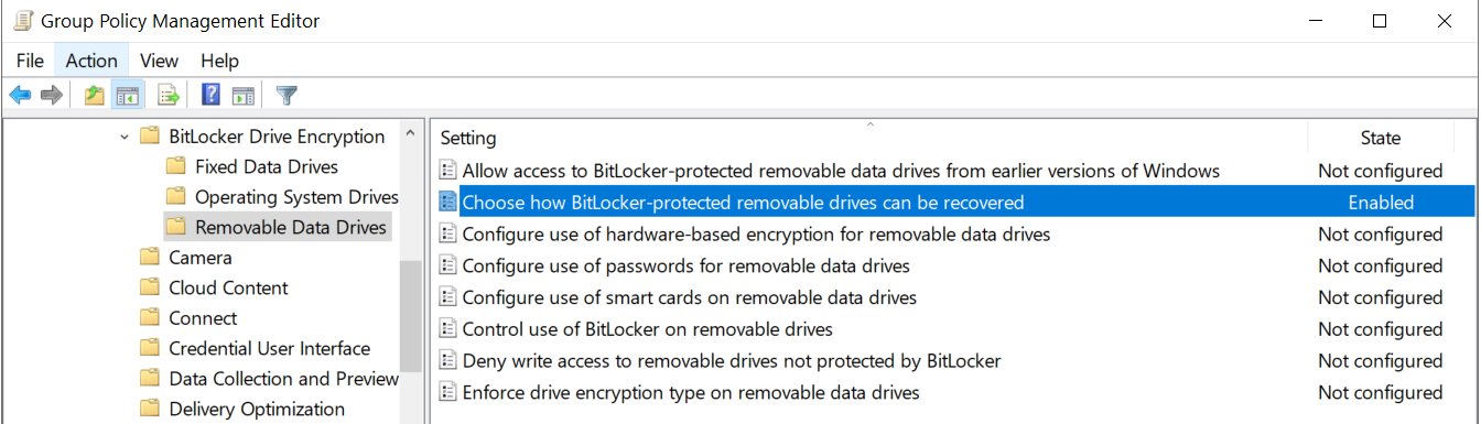Removable Data Drives Bitlocker Recovery