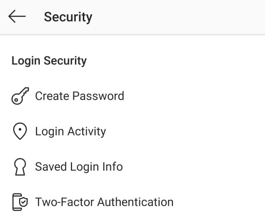 Instagram Two-Factor Authentication