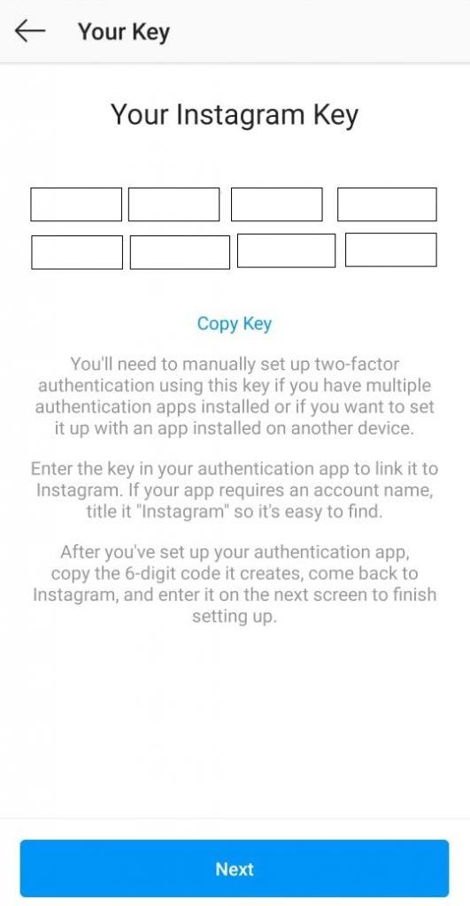 Instagram Keys