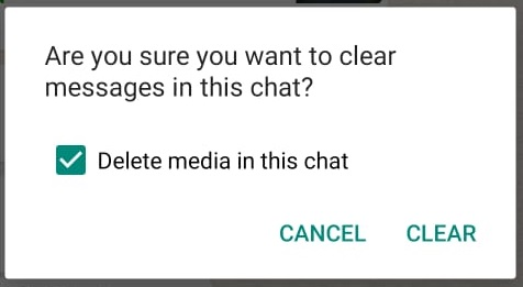 WhatsAppClear ChatDelete Media