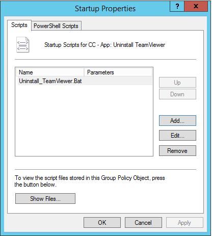Uninstall TeamViewer Using Group Policies