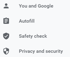 Google Chrome Setting Privacy and Security