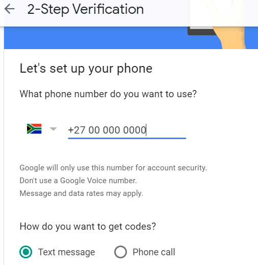 google AccountPhone Number