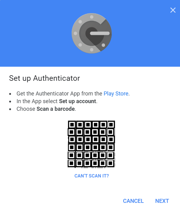 Set up Authenticator