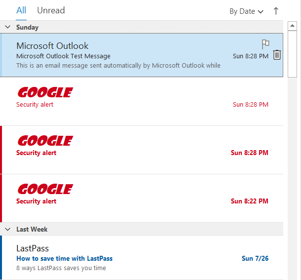 Outlook change Message Colors