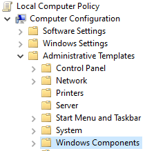 Group Policies Enable Remote DesktopLocal Computer Policy