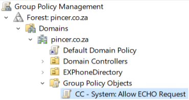 Allow ICMPv4 Echo RequestAllow Ping on FirewallGroup Policy