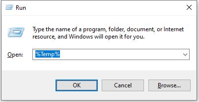 Chrome White PageWindows Temp Files