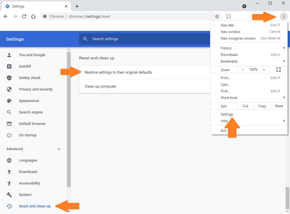 Chrome White PageRestore Google Chrome